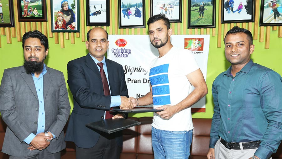 PRAN Drinking Water stands with Mashrafe's foundation