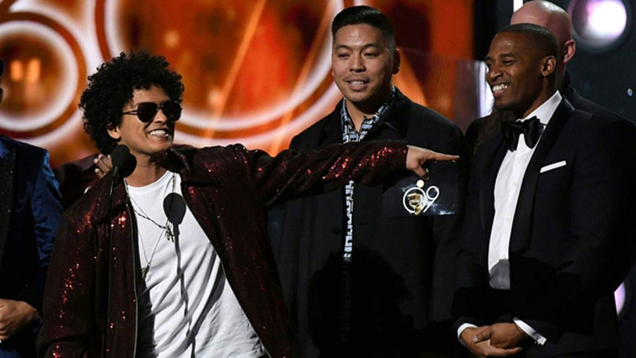 Bruno Mars' '24K Magic' wins record of the year Grammy