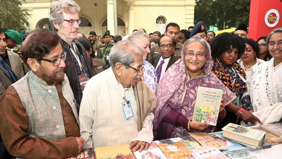 PM opens month-long Ekushey book fair