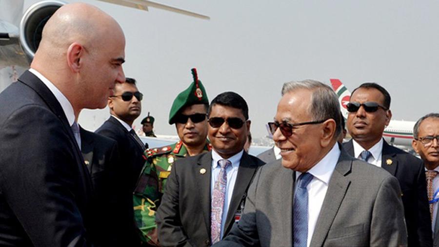 Swiss president in Dhaka
