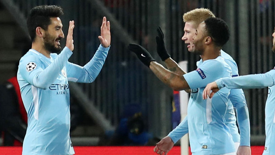 Man City beat FC Basel 4-0