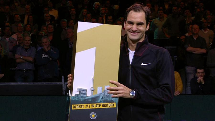 Federer becomes oldest world No. 1