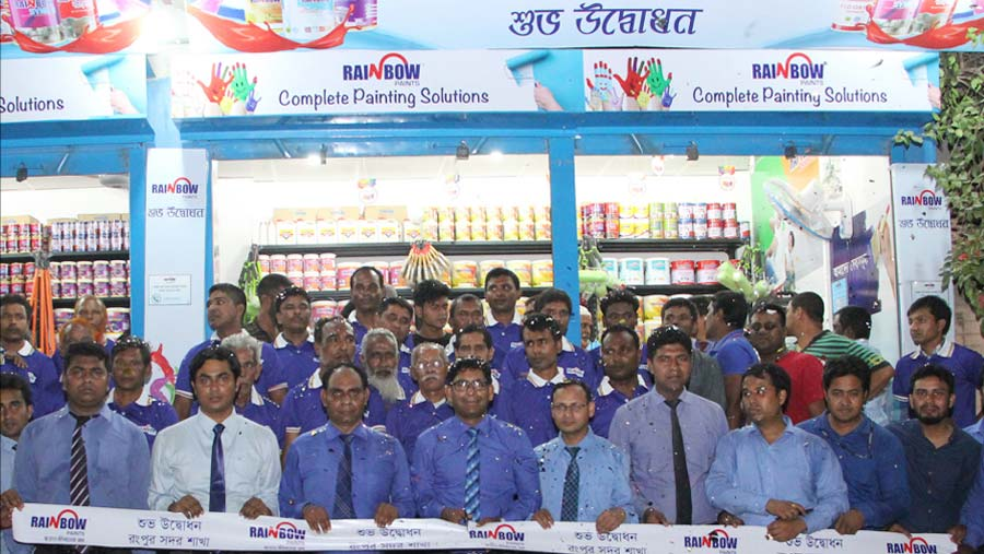 Rainbow Paints opens showroom at Rangpur