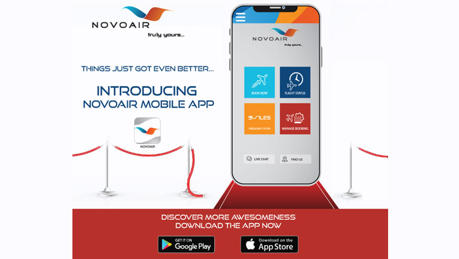 NOVOAIR tickets now in mobile app