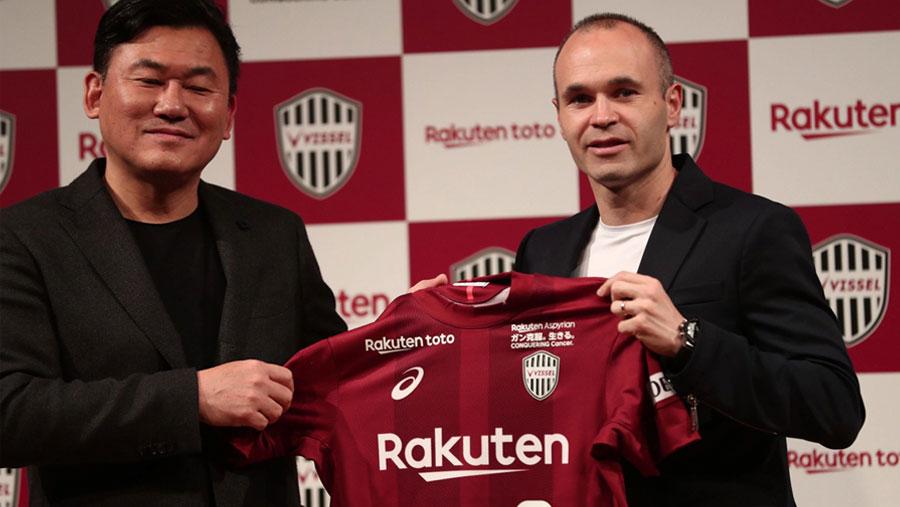 Iniesta signs for Japan's Vissel Kobe