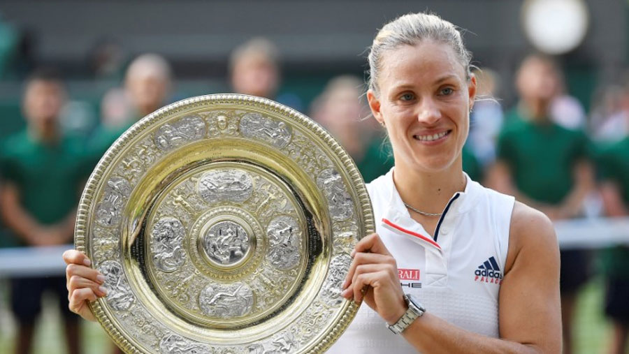 Kerber stuns Williams to win Wimbledon