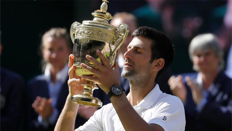 Djokovic seals fourth Wimbledon title