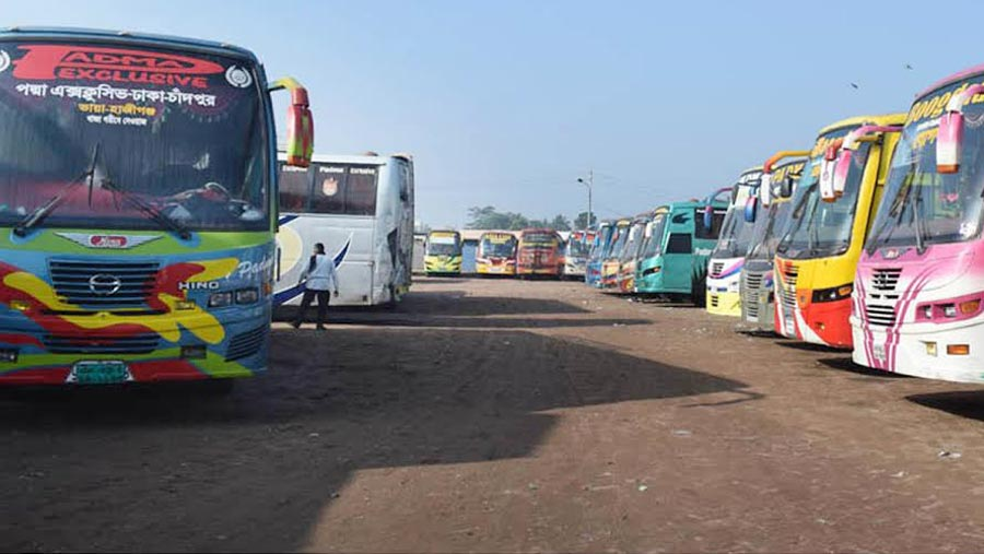 Inter-district bus services suspended for 2nd day