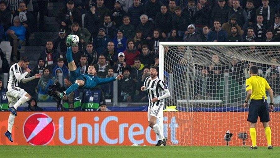 Ronaldo's bicycle kick nominated for UEFA Goal of the Season