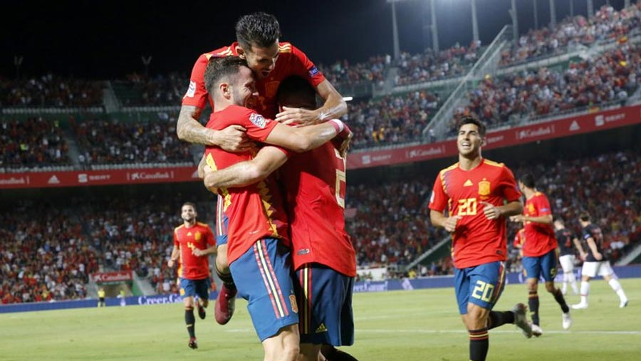 Spain routs Croatia 6-0 in Nations League