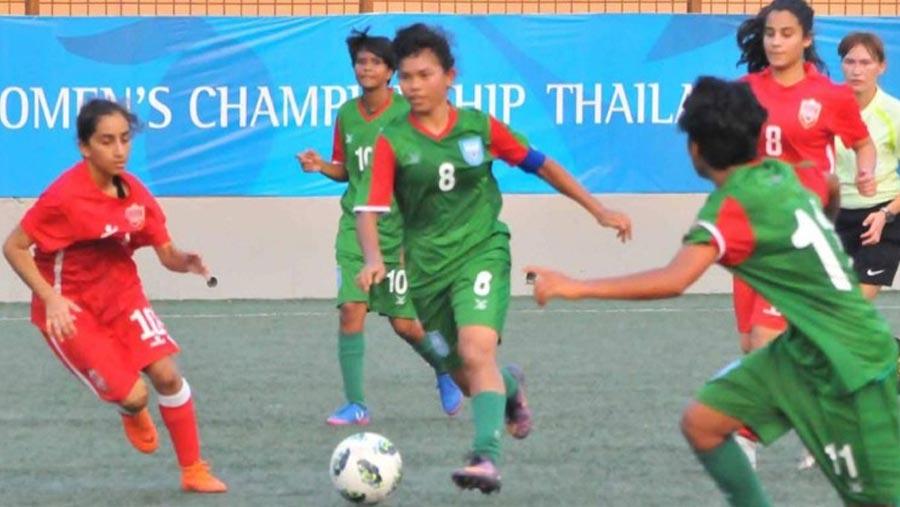 Bangladesh girls crush Bahrain 10-0