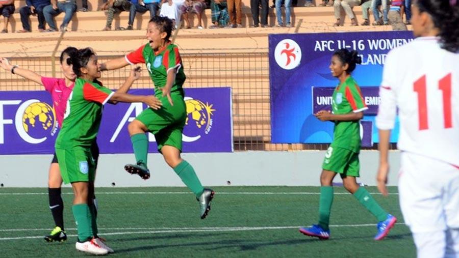 BD U-16 girls thrash UAE 7-0