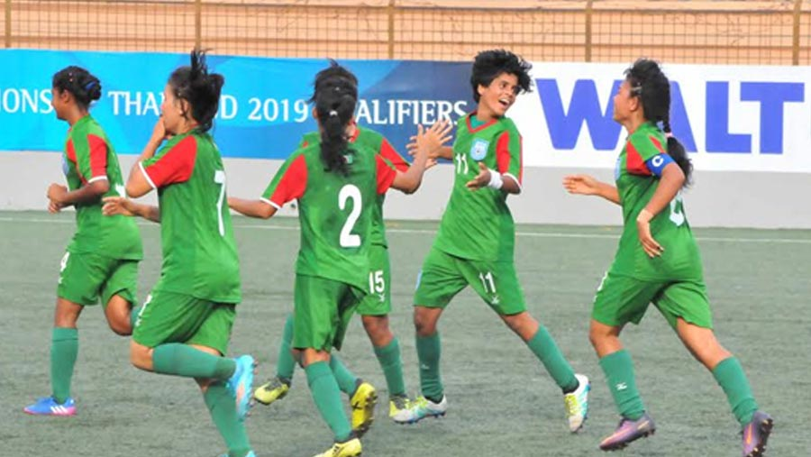 Bangladesh girls win group in style