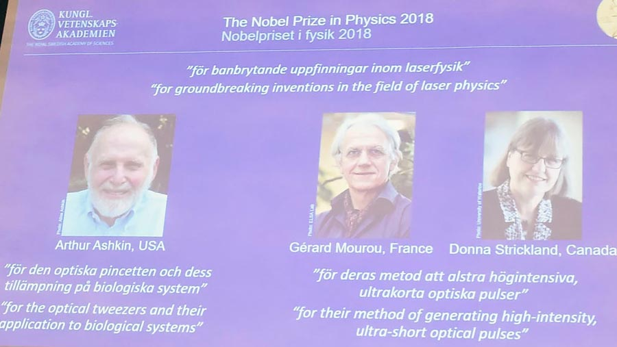 Nobel Prize in Physics awarded to scientists who put light to work
