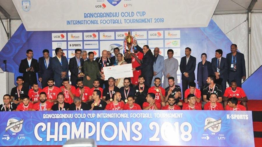 Palestine win Bangabandhu Gold Cup