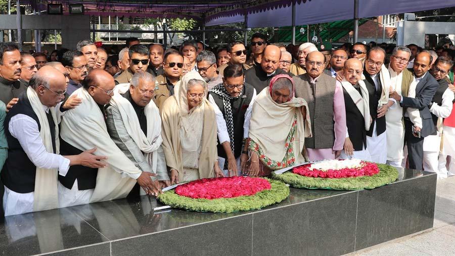 PM pays tributes to Bangabandhu on polls triumph
