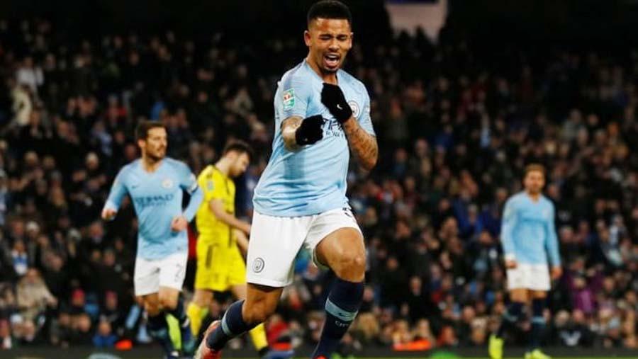 Man City hit nine in Burton thrashing