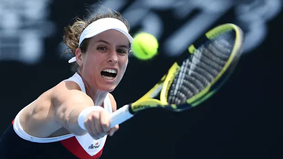 Johanna Konta survives first round test