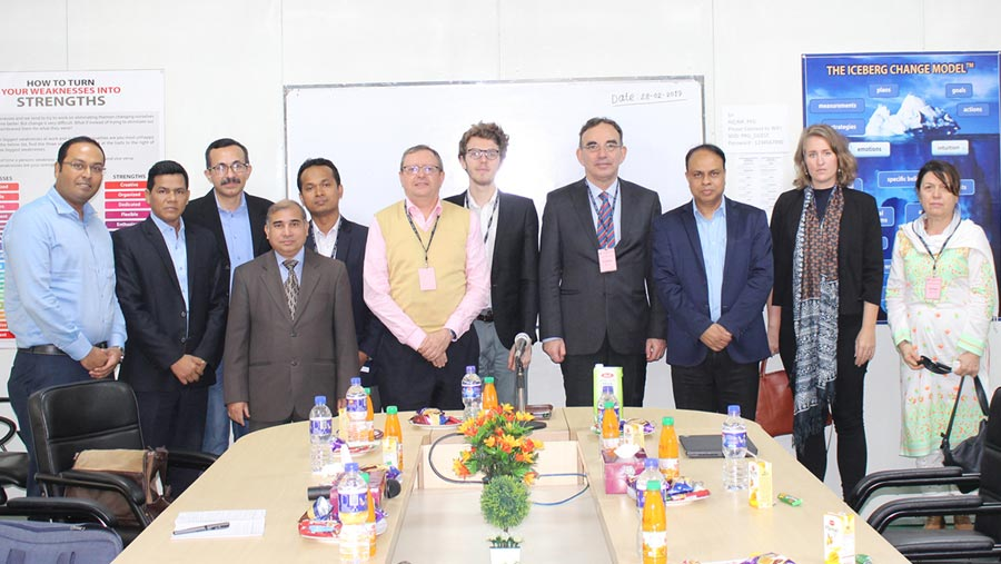 EU delegation visits PRAN factory