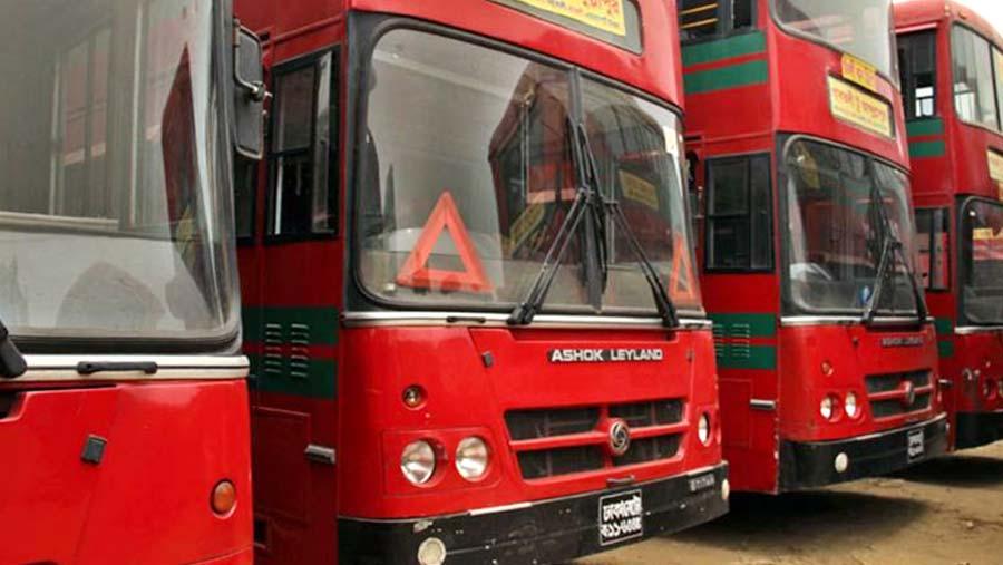 BRTC launches city bus service in Rangpur