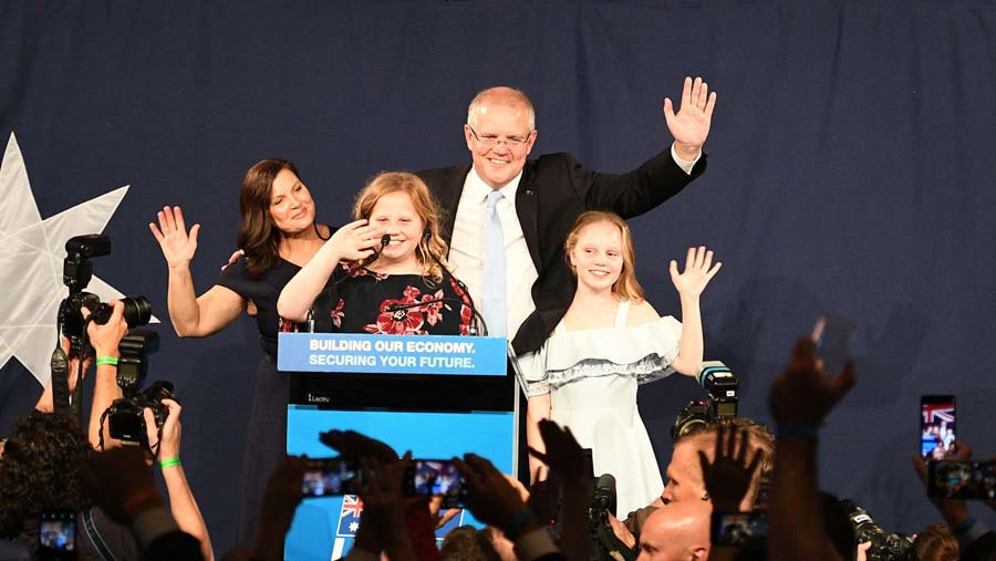 Australia coalition wins outright majority