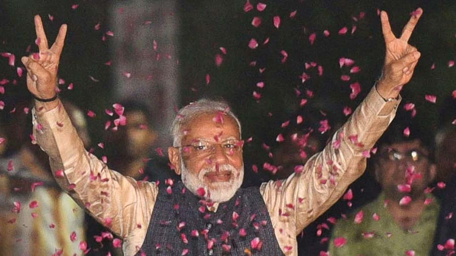Modi plots course after landslide election win