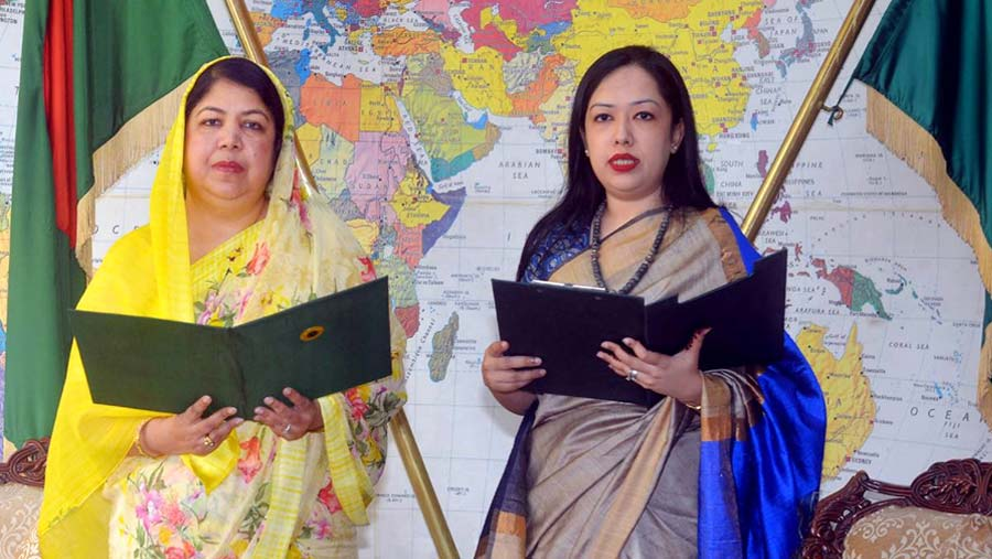 Rumeen Farhana takes oath as MP