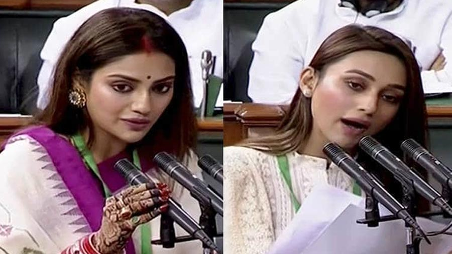 Nusrat, friend Mimi take oath as LS members