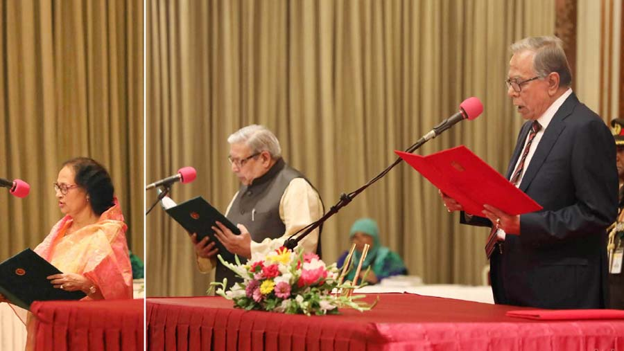 Imran, Indira sworn-in as minister, state minister
