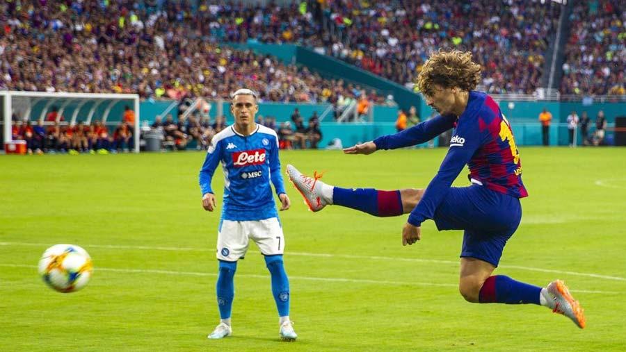 Rakitic lifts Barca over Napoli in Miami matchup