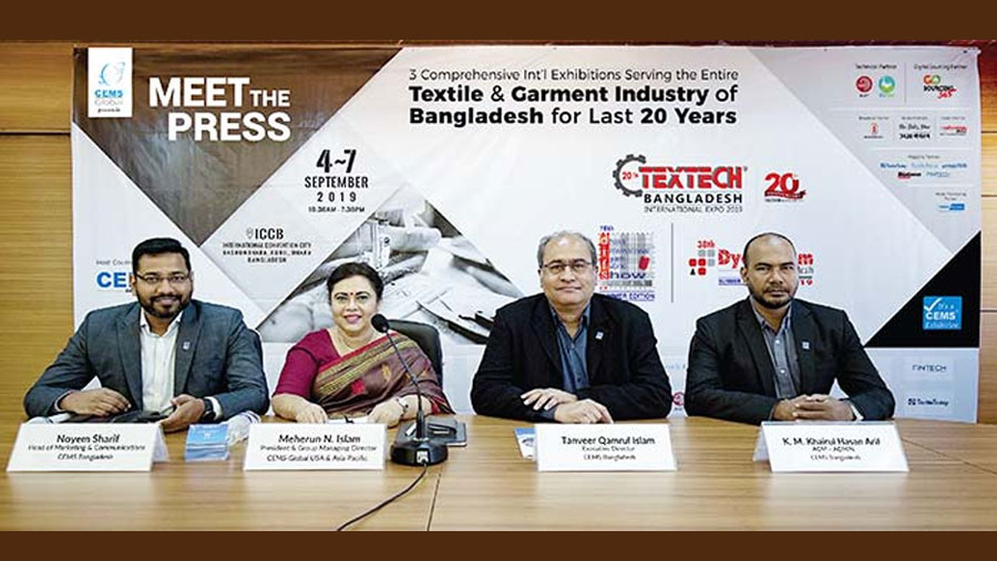 20th Textech Bangladesh Expo begins on Sep 4