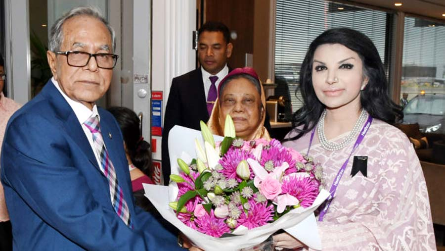 President Hamid reaches London