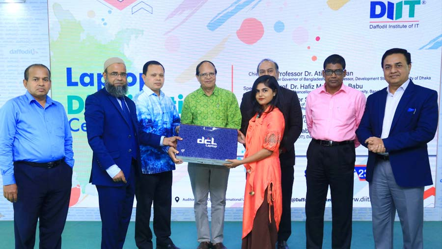 100+ students receives free laptop at DIIT