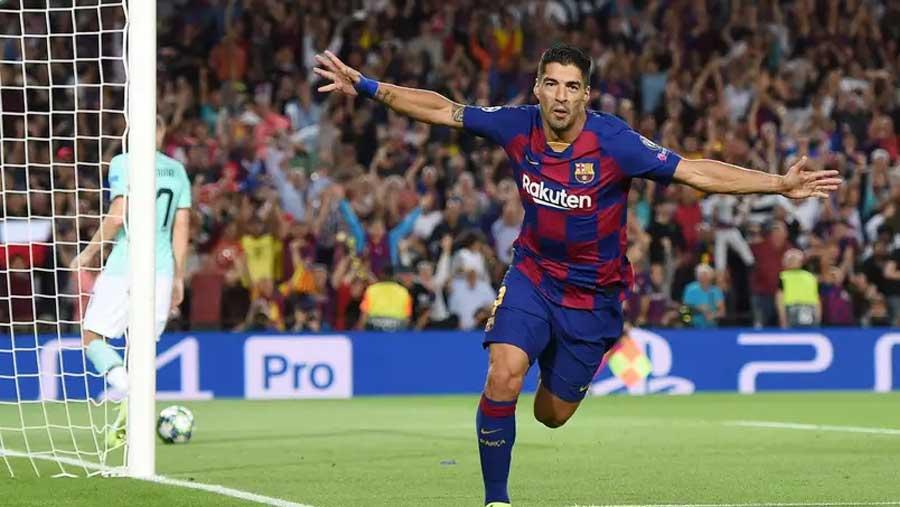 Suarez scores two to give Barca 2-1 comeback win over Inter