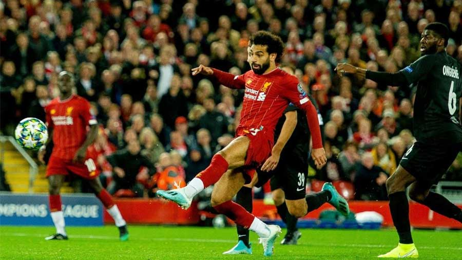 Salah spares Anfield blushes in C' League thriller