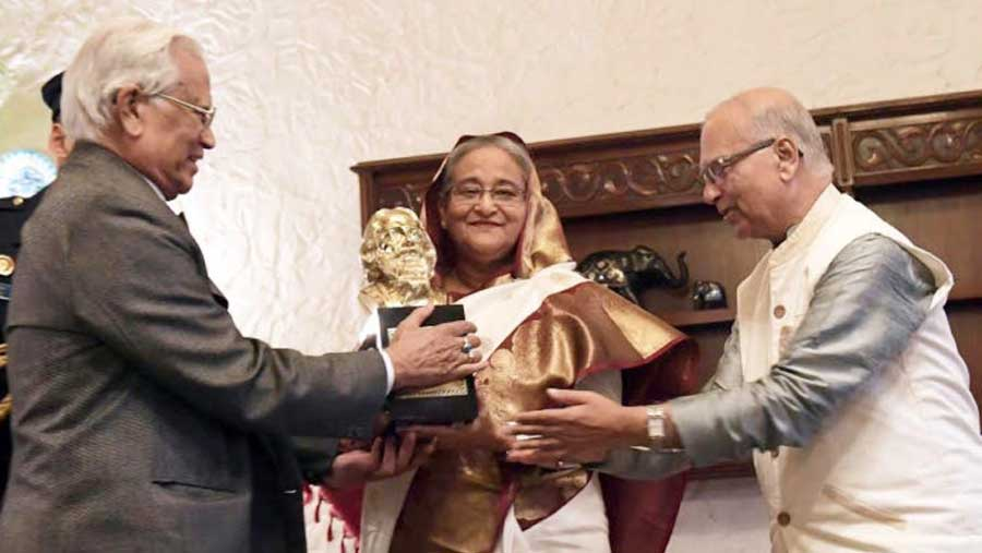 PM receives 'Tagore Peace Award 2018'