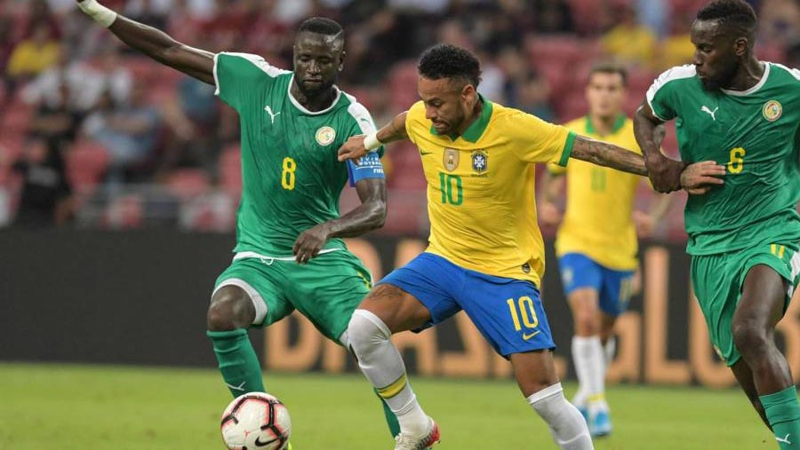 Neymar wins 100th Brazil cap in draw with Senegal