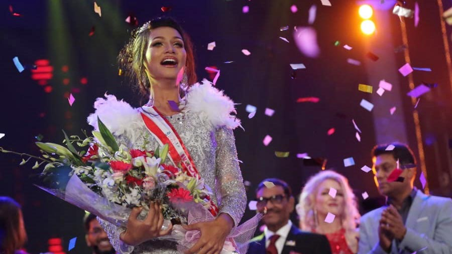 Shela crowned Miss Universe Bangladesh