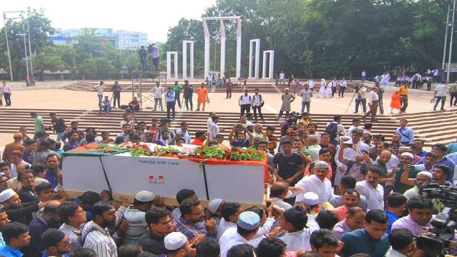 Tributes paid to Sadeque Hossain Khoka
