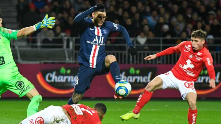 Di Maria and Icardi give PSG win in Brest