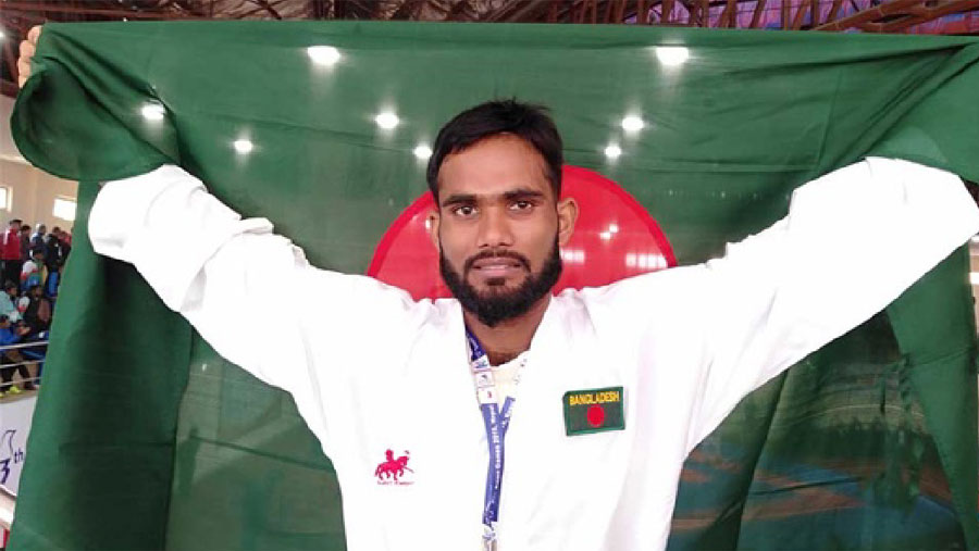 Al Amin secures 2nd gold for BD in SA Games