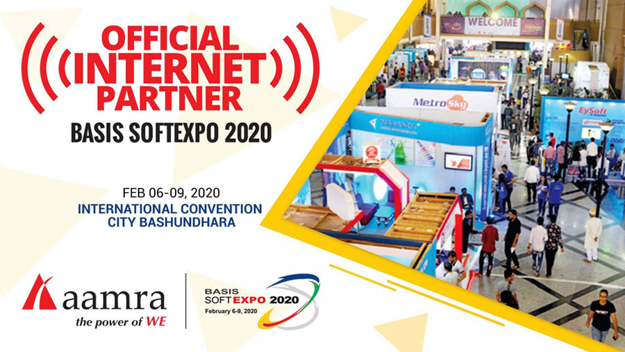 Aamra official internet partner of BASIS SoftExpo 2020