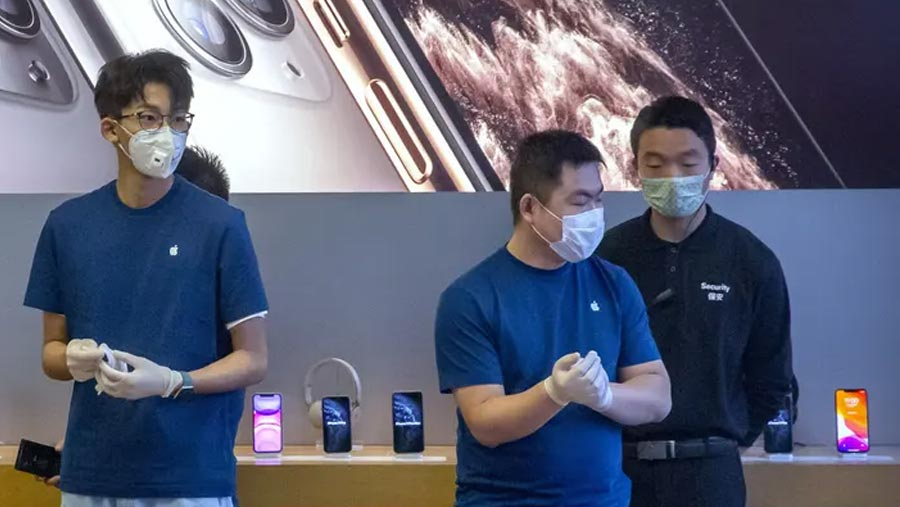 Apple warns coronavirus will hurt iPhones supplies