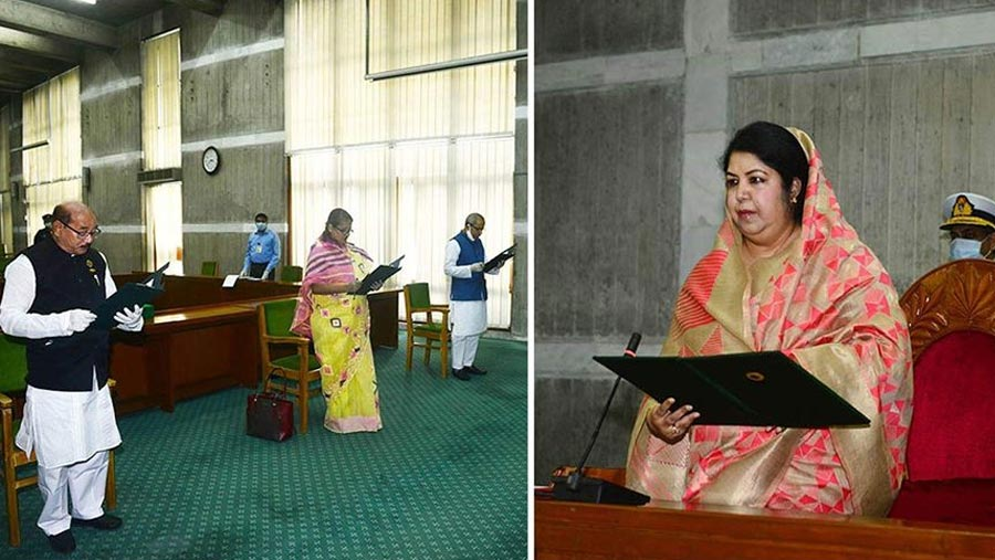 Three newly elected lawmakers sworn in