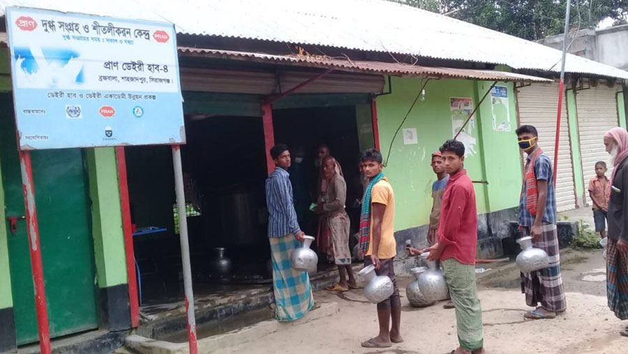 PRAN Dairy collects 2 lac liters of milk from farmers