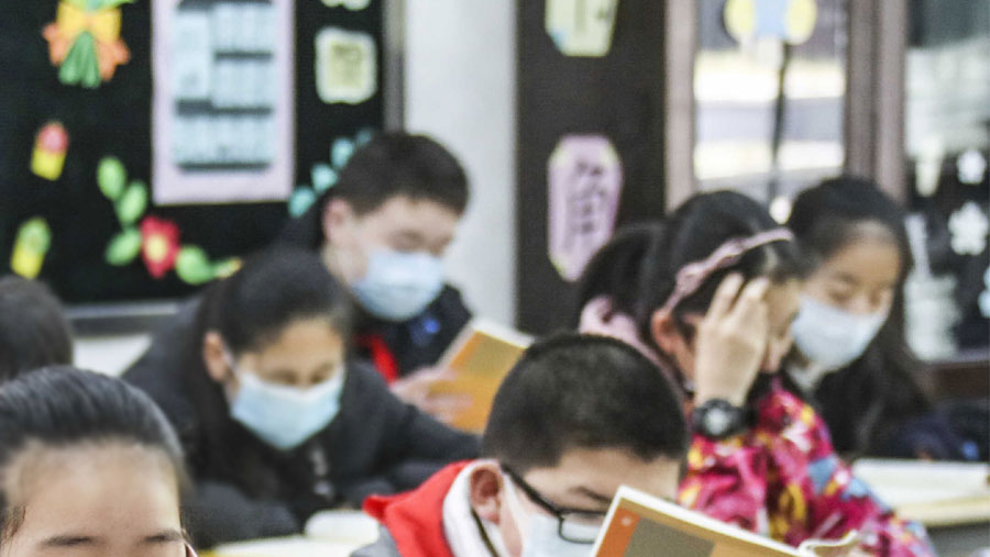 Students in China's Wuhan return to school