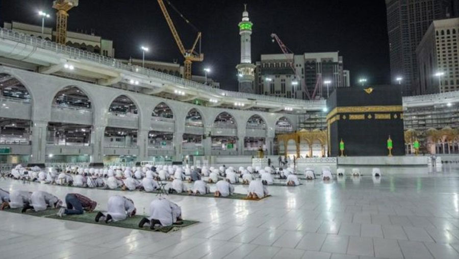 Eid prayer performed at Grand Mosque, Prophet's Mosque in Saudi Arabia