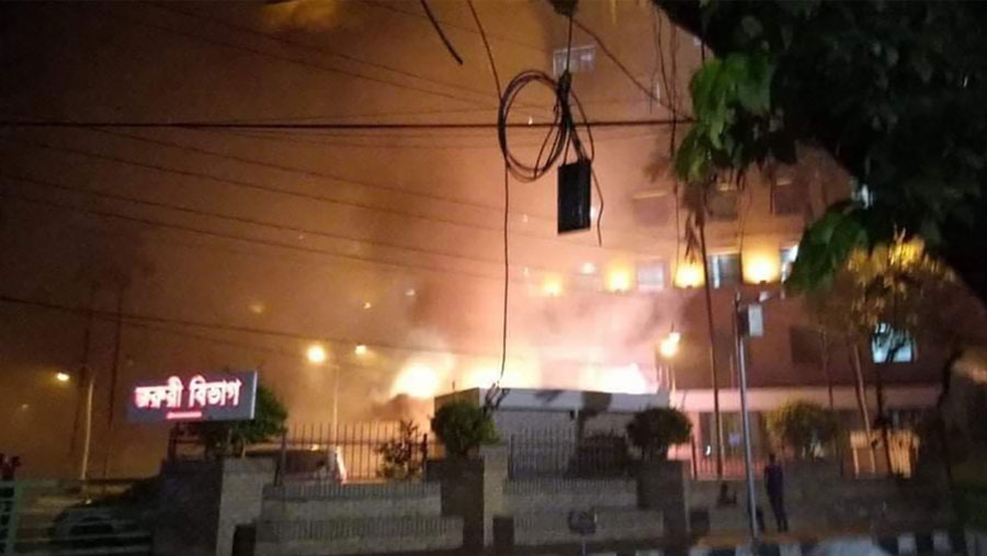 Five killed in United Hospital fire