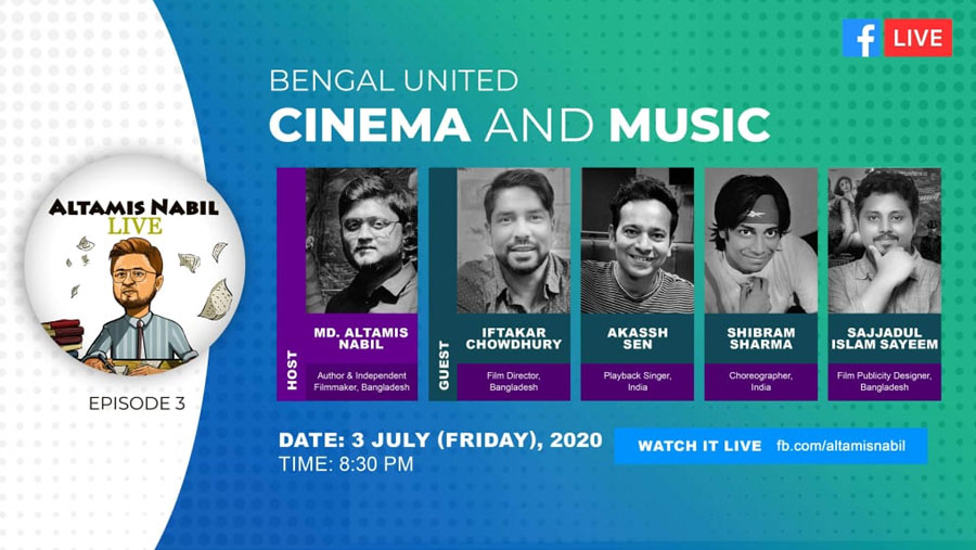 Bengal united with cinema & music at Altamis Nabil live