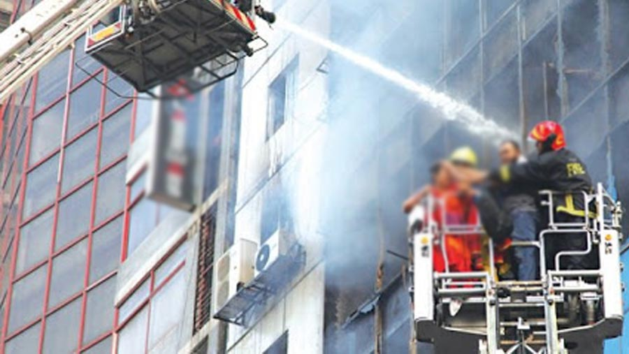 Banani Ahmed Tower fire extinguished
